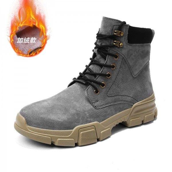 Martin boots men's new men's autumn winter high boot joker overalls boots Wolf boots leather men's shoes desert boots