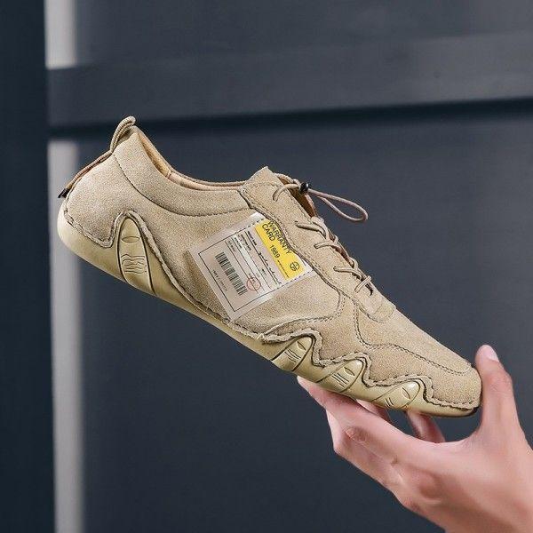 Men's shoes men's new breathable casual shoes men's octopus bean shoes leather version of sports shoes