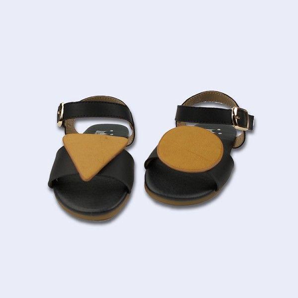 Summer 2020 princess soft bottom geometry skid-proof children's sandals web celebrity