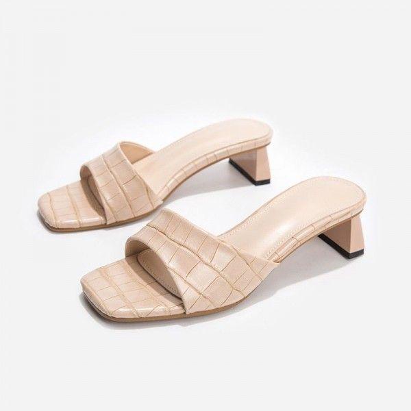 Women's oversize shoes 41-43 sandals thick heel high heel women